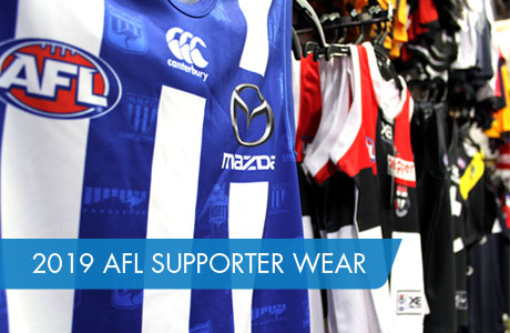 2019 AFL Supporter Wear range ni store now