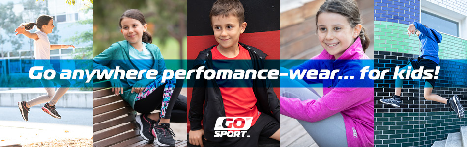 Go anywhere performance-wear for kids