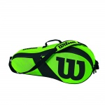 WILSON Match III 3pk Tennis Bag - GREEN/BLACK WILSON Match III 3pk Tennis Bag - GREEN/BLACK