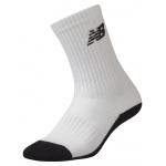 New Balance Junior Vanquish Crew Sock (size 1-6) - White New Balance Junior Vanquish Crew Sock (size 1-6) - White