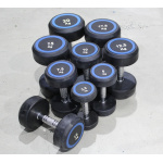 Olympic Fitness Pro Round Rubber Dumbbell - 17.5kg (Single item only) Olympic Fitness Pro Round Rubber Dumbbell - 17.5kg (Single item only)