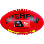 Sherrin AFLW Leather Replica Football - RED Sherrin AFLW Leather Replica Football - RED