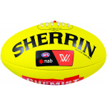 Sherrin AFLW Leather Replica Football - YELLOW Sherrin AFLW Leather Replica Football - YELLOW