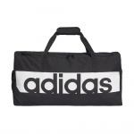 Adidas Linear Performance Medium Duffel Bag - Black/White Adidas Linear Performance Medium Duffel Bag - Black/White