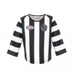 Burley Collingwood Magpies AFL Infant Long Sleeve Replica Guernsey - (SIZE 2) Burley Collingwood Magpies AFL Infant Long Sleeve Replica Guernsey - (SIZE 2)