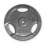 Bodyworx Standard Ezy Grip Weight Plate - 15kg Bodyworx Standard Ezy Grip Weight Plate - 15kg