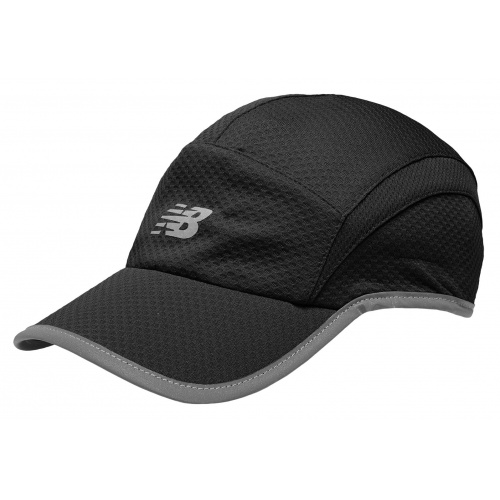 New Balance 5 Panel Performance Running Cap - BLACK