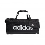 Adidas Essentials Logo Medium Duffel Bag - Black/White Adidas Essentials Logo Medium Duffel Bag - Black/White