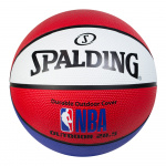 Spalding NBA Outdoor Basketball - RED/WHITE/BLUE - SIZE 6 Spalding NBA Outdoor Basketball - RED/WHITE/BLUE - SIZE 6