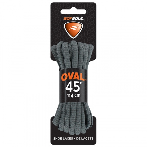 SOF SOLE U Athletic Oval Laces - GREY