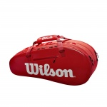 WILSON Super Tour 2 Compartment 6pk Tennis Bag - RED WILSON Super Tour 2 Compartment 6pk Tennis Bag - RED
