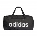 Adidas Linear Core Medium Duffel Bag - Black/Black/White Adidas Linear Core Medium Duffel Bag - Black/Black/White