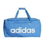 Adidas Linear Core Medium Duffel Bag - True Blue/True Blue/White Adidas Linear Core Medium Duffel Bag - True Blue/True Blue/White