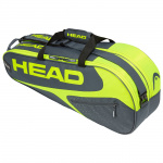 Head Elite 6R Combi Tennis Bag - GREY/NEON YELLOW Head Elite 6R Combi Tennis Bag - GREY/NEON YELLOW