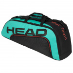 Head Tour Team 6R Combi Tennis Bag - BLACK/TEAL Head Tour Team 6R Combi Tennis Bag - BLACK/TEAL