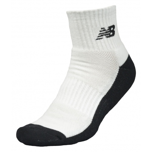 New Balance Men's Triumph Qtr Crew Sock (Size 7-11) - WHITE