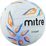 Mitre Ultragrip Netball - White/Cyan/Orange Mitre Ultragrip Netball - White/Cyan/Orange