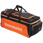 Kookaburra Pro 1.0 Cricket Wheel Bag - Black/Orange Kookaburra Pro 1.0 Cricket Wheel Bag - Black/Orange
