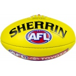 Sherrin AFL Leather Replica Football - Yellow (SIZE 5) Sherrin AFL Leather Replica Football - Yellow (SIZE 5)