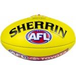 Sherrin AFL Leather Replica Football - Yellow (SIZE 5) Sherrin AFL Leather Replica Football - Yellow (SIZE 5)