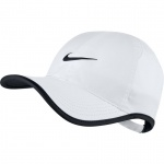 Nike Aerobill Featherlight Tennis Cap - WHITE/BLACK Nike Aerobill Featherlight Tennis Cap - WHITE/BLACK