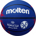 Molten 2019 FIBA World Cup Rubber Basketball - BLUE - SIZE 7 Molten 2019 FIBA World Cup Rubber Basketball - BLUE - SIZE 7