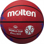Molten 2019 FIBA World Cup Rubber Basketball - RED - SIZE 7 Molten 2019 FIBA World Cup Rubber Basketball - RED - SIZE 7