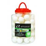 Alliance ABS 1 STAR Table Tennis Balls - WHITE PACK OF 60 Alliance ABS 1 STAR Table Tennis Balls - WHITE PACK OF 60