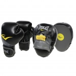 Everlast Advanced 12oz Glove & Mitt Combo - BLACK Everlast Advanced 12oz Glove & Mitt Combo - BLACK