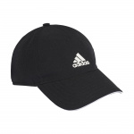 Adidas Mens AEROREADY Baseball Cap - Black/White/White Adidas Mens AEROREADY Baseball Cap - Black/White/White