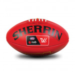 Sherrin AFLW Replica Leather Training Football - RED Sherrin AFLW Replica Leather Training Football - RED