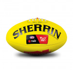 Sherrin AFLW Replica Leather Training Football - YELLOW Sherrin AFLW Replica Leather Training Football - YELLOW