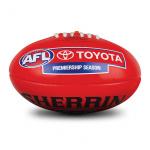 Sherrin AFL PVC Replica Football - RED - SIZE 5 Sherrin AFL PVC Replica Football - RED - SIZE 5