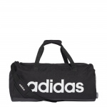 Adidas Medium Linear Duffle Bag- Black/Black/White Adidas Medium Linear Duffle Bag- Black/Black/White