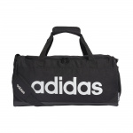 Adidas Small Linear Duffle Bag - black/Black/White Adidas Small Linear Duffle Bag - black/Black/White
