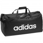 Adidas Linear Large Duffle Bag - BLACK/BLACK/WHITE Adidas Linear Large Duffle Bag - BLACK/BLACK/WHITE