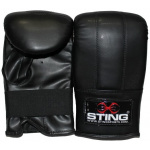 STING 2 Stitch Boxing Glove - Black - LARGE STING 2 Stitch Boxing Glove - Black - LARGE