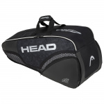HEAD DJOKOVIC 6R Combi Tennis Bag - BLACK/WHITE HEAD DJOKOVIC 6R Combi Tennis Bag - BLACK/WHITE