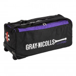 Gray-Nicolls GN 700 Cricket Wheel Bag - BLACK/PURPLE Gray-Nicolls GN 700 Cricket Wheel Bag - BLACK/PURPLE