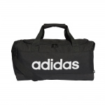 Adidas Essentials Logo Small Duffel Bag - Black/White Adidas Essentials Logo Small Duffel Bag - Black/White