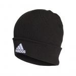 Adidas Logo Beanie - Black/Black/White Adidas Logo Beanie - Black/Black/White