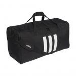 Adidas 3 Stripes Medium DufflE Bag - Black/Black/White Adidas 3 Stripes Medium DufflE Bag - Black/Black/White