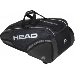 HEAD Djokovic 12R MONSTERCOMBI Tennis Bag - BLACK/WHITE HEAD Djokovic 12R MONSTERCOMBI Tennis Bag - BLACK/WHITE
