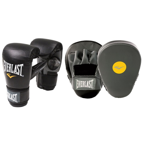 Everlast Glove & Mitt Combo - Black/Grey