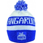 Burley Nth Melbourne Kangaroos AFL Bar Beanie Burley Nth Melbourne Kangaroos AFL Bar Beanie