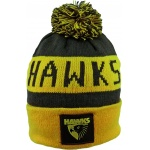 Burley Hawthorn Hawks AFL Bar Beanie Burley Hawthorn Hawks AFL Bar Beanie