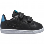 Nike Court Royale EP Toddler Shoe - BLACK/BLACK-LT Current Blue Nike Court Royale EP Toddler Shoe - BLACK/BLACK-LT Current Blue