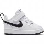 Nike Court Borough Low 2 Toddler Shoe - WHITE/BLACK Nike Court Borough Low 2 Toddler Shoe - WHITE/BLACK