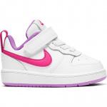 Nike Court Borough Low 2 Toddler Shoe - WHITE/HYPER PINK-FUCHSIA GLOW Nike Court Borough Low 2 Toddler Shoe - WHITE/HYPER PINK-FUCHSIA GLOW