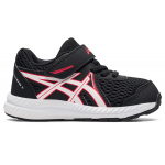 ASICS Contend 7 Toddler Shoe - Black/Electric Red ASICS Contend 7 Toddler Shoe - Black/Electric Red
